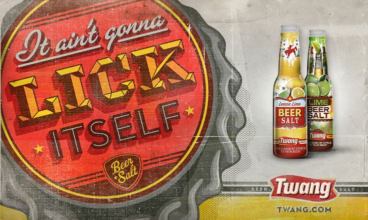 Lovely bit of advertising by Twang Beer.    http://www.graphic-exchange.com/01graphic.htm#