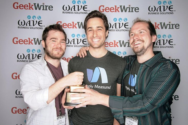 Our founders accepting the Geekwire 2013 Start-Up of the Year award! #tbt
