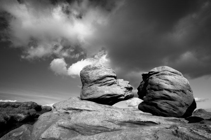 Kissing Stones, rushing clouds, Bleaklow - Fran Halsall