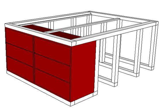 Ikea Hack Aus Dem Kallax Regal Und Der Malm Kommode Wird Ein Bett Mit Unterbauschrank Malm Kommode Kallax Regal Unterschrank