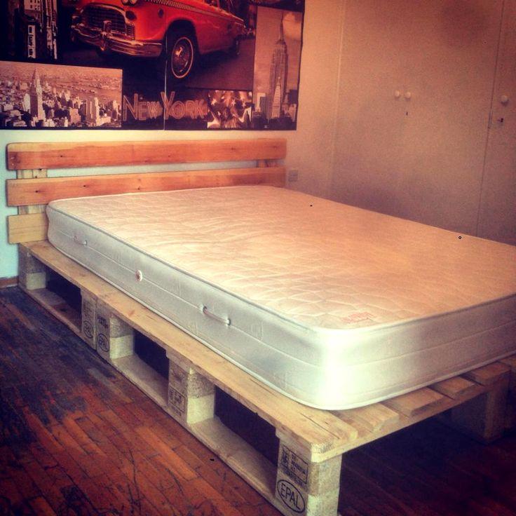 Best 25 pallet platform bed ideas on pinterest diy bed for Pallet platform