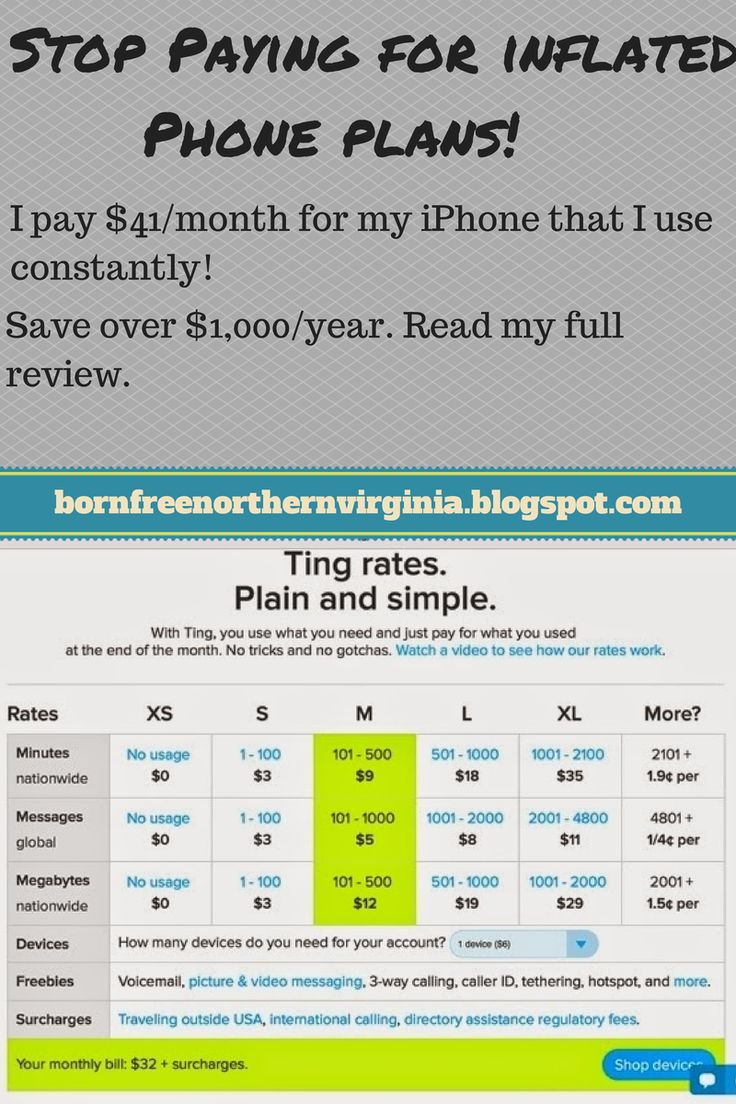Born Free: I pay $41.00/month for my iPhone Plan! Ting Review...