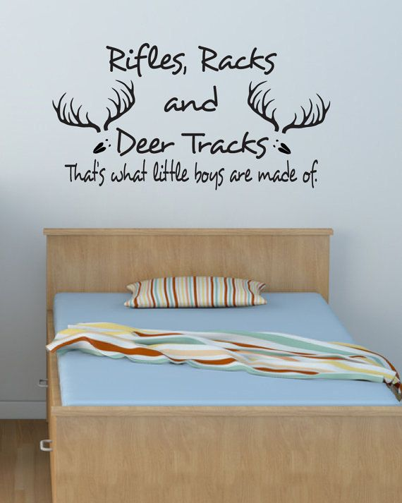 baby boy room Decal Vinyl wall Decal Rifles Racks by likewall