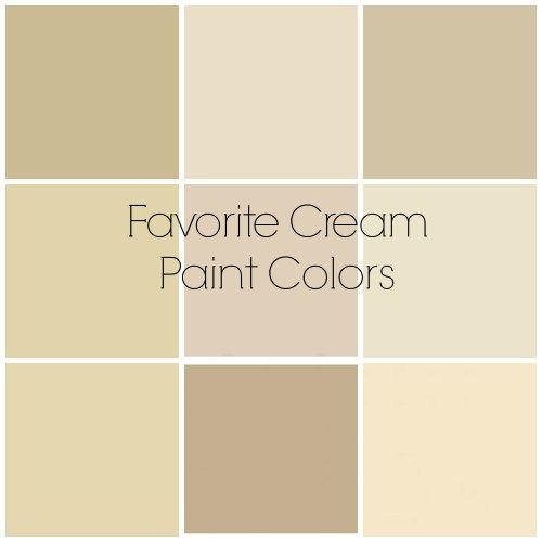 Favorite Cream Paint Colors