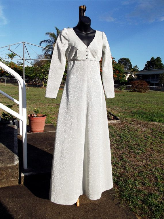 60s Vintage Silver Gown Size S Boho Wedding by VintageSquirrels, $89.95  60s Vintage Silver Gown, Size S Boho Wedding, Silver Lurex Dress Floor Length, Movie Star Glamour Vintage Maxi, Sally Forth, Global shipping