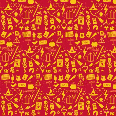 All Things Harry Potter fabric by sherlocked_potter_whovian on Spoonflower - custom fabric