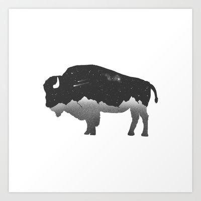 Image result for bison tattoo outline