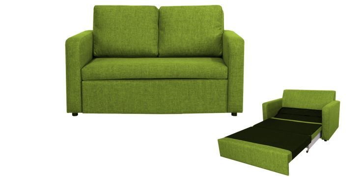 Easy 2 Seater Sofa Bed Green - 5 colours