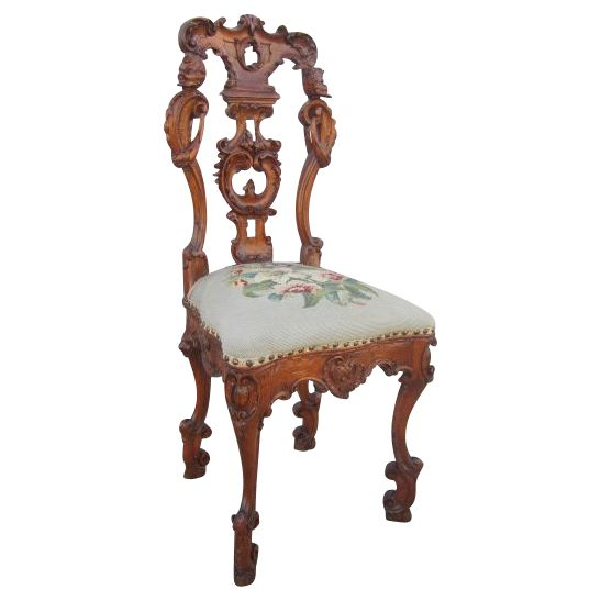 Italian Antique Carved Chair with Needlepoint Antique Furniture from  castlehillantiques on Ruby Lane - 234 Best Antique Furniture Images On Pinterest Carved Wood
