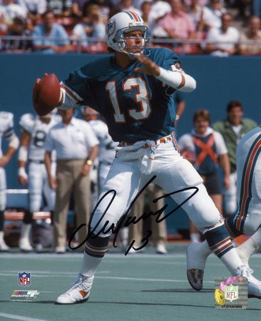 Dan Marino Miami Dolphins Autographed Photo (Hand Signed Collectable)