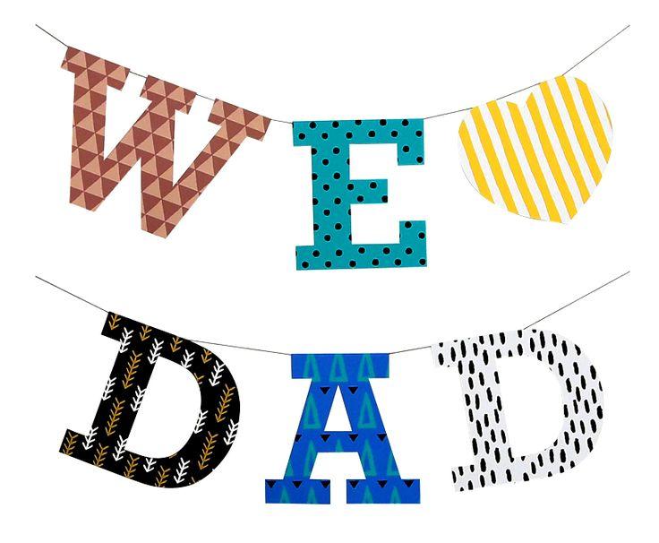 お父さんが帰ってくる父の日に!✨☺✂お家を飾って迎えてあげてくださいね!(*´∨`*) ➡️https://goo.gl/E1v1kA 簡単無料ダウンロードでパパLOVE♡バナーが作れちゃいます!#お父さん #父の日 #バナー #誕生日 #Home #おかえり