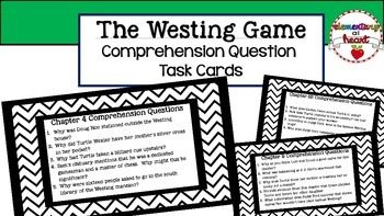 Use these comprehension questions while reading The Westing Game.This product includes:-30 Comprehension Cards for The Westing Game-3-6 Comprehension Questions per chapter that really get your students thinking.-Most questions require support from text.Customer Tips:How to get TPT credit to use on future purchases: Please go to your My Purchases page.