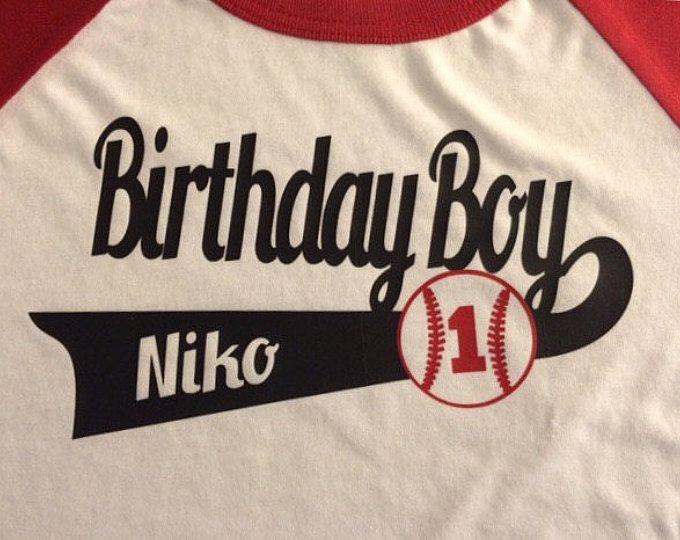 Camiseta de cumpleaños cumpleaños de camisas de béisbol para toda la familia, familia béisbol camisetas personalizadas, modificado para requisitos particulares este listado es para una camiseta