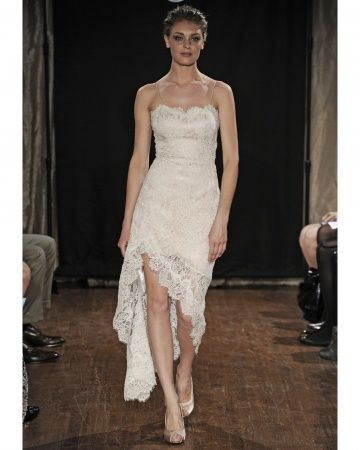 Typically not a fan of short wedding dresses, but this would be wonderful for the right venue
