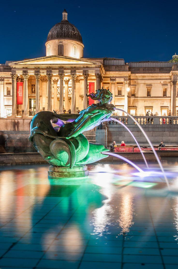 National Gallery, Trafalgar Square, London UK.