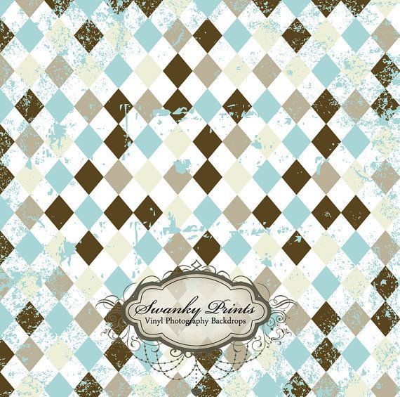 Gray Blue Grunge Diamonds - Oz Backdrops and Props