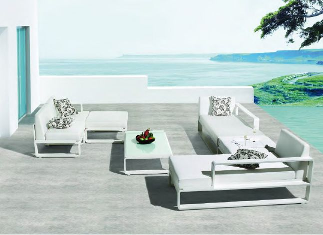 The exceptionally stylish Citta Del Capo range was designed with modularity in mind and the distinctive core pieces, chaise loungers and centre chairs, fit together to form a variety of comfortable combinations.  See more at: http://bit.ly/1eOSWLF