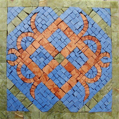 "12x12"" Marble Mosaic Pattern Art Tile Accent Piece Insert by mozaico. $90.00. Mosaics have endless uses and infinite possibilities! They can be used indoors or outdoors, be part of your kitchen, decorate your bathroom and the bottom of your pools, cover walls and ceilings, or serve as frames for mirrors and paintings."
