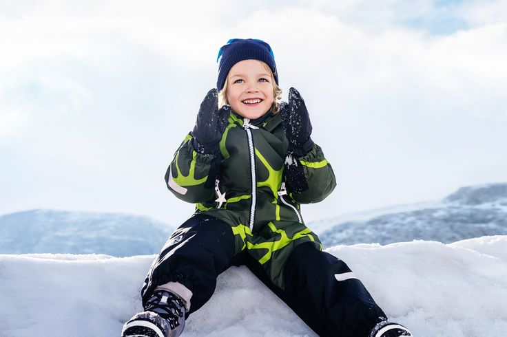 """Reima's """"Kiddo"""" overall keeps your kid dry so your kid can sit, crawl and romp around in the snow - and you don't have to worry."""
