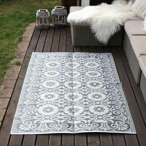 Outdoor Teppich Grau Weiß, L - Zeitgeist Living & Deco