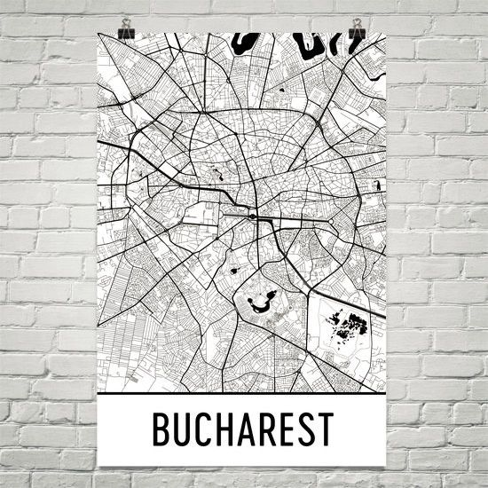 **MADE IN THE USA** You'll love this amazing Bucharest Art Print! This Bucharest city street map shows all of the winding streets of Bucharest. This will fit any decor, and also make great gifts. If y