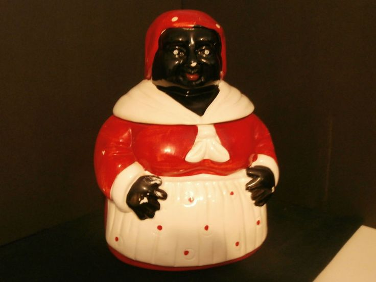 Cookie Jar Aunt Jemina Pottery Black Americana Vintage