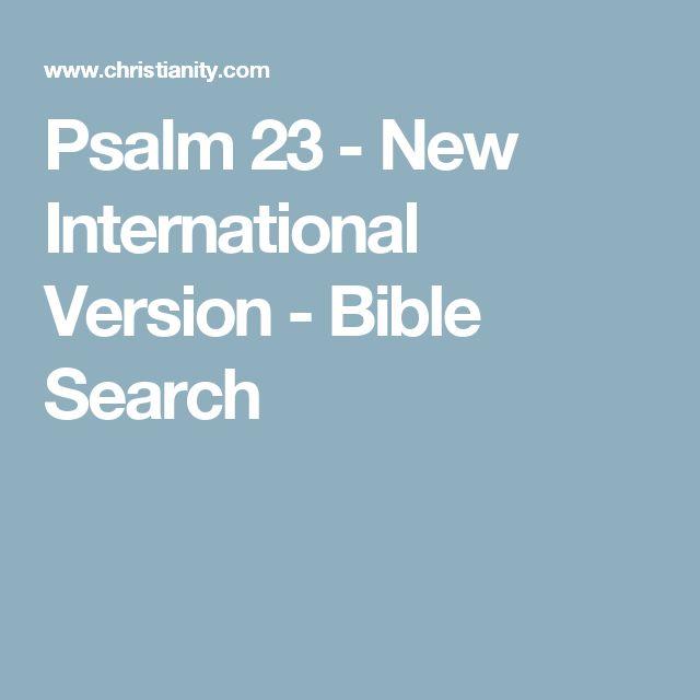 Psalm 23 - New International Version - Bible Search