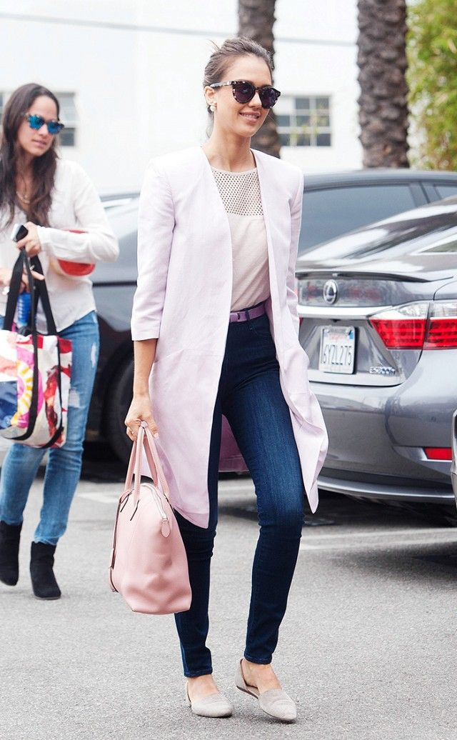 7 Tricks To Make Your Jeans Appropriate For The Office via @Who What Wear