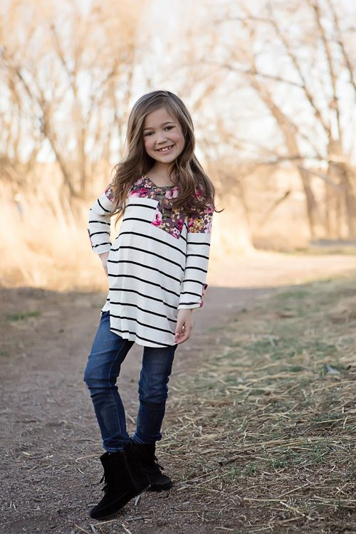 Striped top, Colorblock Top, Floral Top, Top, Fashion, Ryleigh Rue, Kids Clothing, Kids Boutique, Boutique, Online Shopping