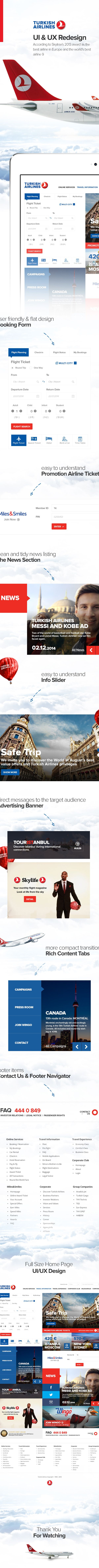 Turkish Airlines Web Site Redesign on Behance