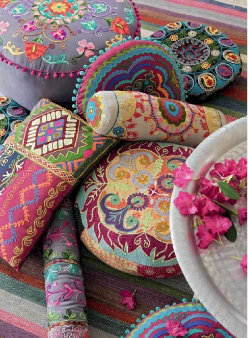 Everybody loves these bohemian cushions by Roberto Bianchini - new collection arriving soon in early March!