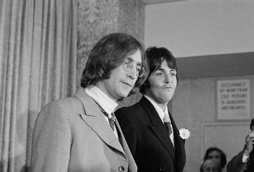 14 May 1968, Manhattan, New York City, press conference to announce the launch of Apple Corps.
