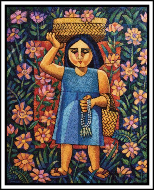 Sampaguita Vendor, by Ninoy Lumboy, a Filipino artist