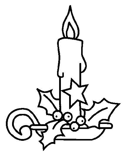 Resultado de imagen para velas navideñas para colorear