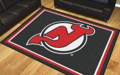 Area Rugs New Jersey Nj Devils Rug   New Jersey Devils 8 X 10' Ultra Plush Carpet Area