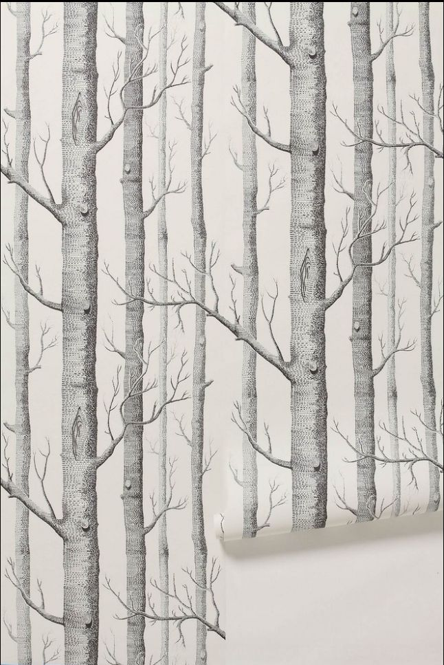 The famous Woods wallpaper (comes with various color). it's tempting me to draw an owl or some wood creature on it :)