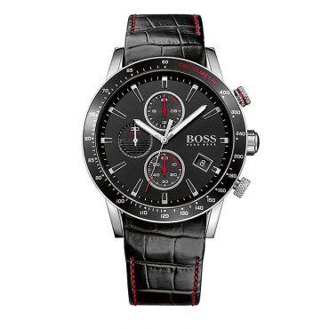 1513390 Ανδρικό quartz ρολόι HUGO BOSS Rafale με μαύρο καντράν & μαύρο κροκό δερμάτινο λουρί | Ανδρικά ρολόγια BOSS ΤΣΑΛΔΑΡΗΣ στο Χαλάνδρι #Boss #Rafale #λουρι #ανδρικο #ρολοι