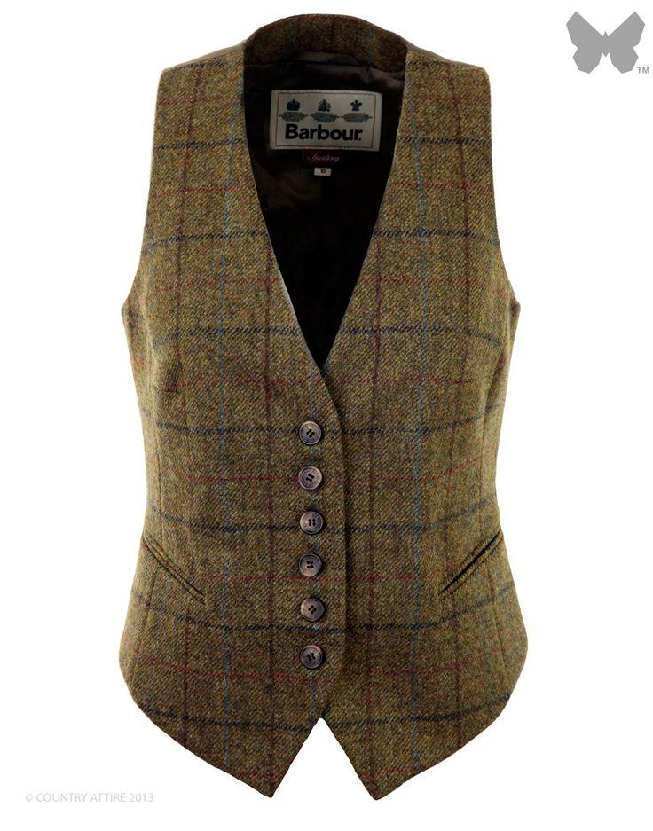 Barbour Ladies' Clover Waistcoat – Olive LTA0056OL71 - Tweed Waistcoats - Waistcoats / Gilets / Liners - Ladies | Country Attire