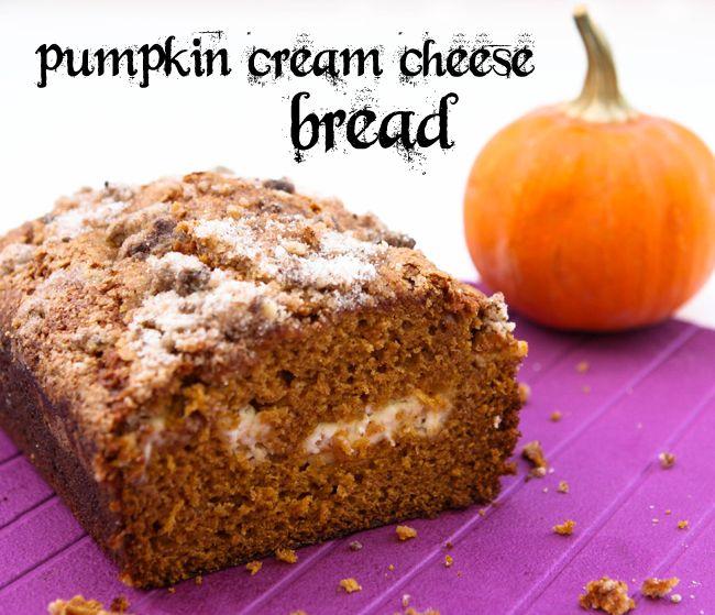 Pumpkin Cream Cheese Bread | pipandebby.com