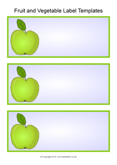 Fruit and Vegetables-Themed Classroom Labels Templates