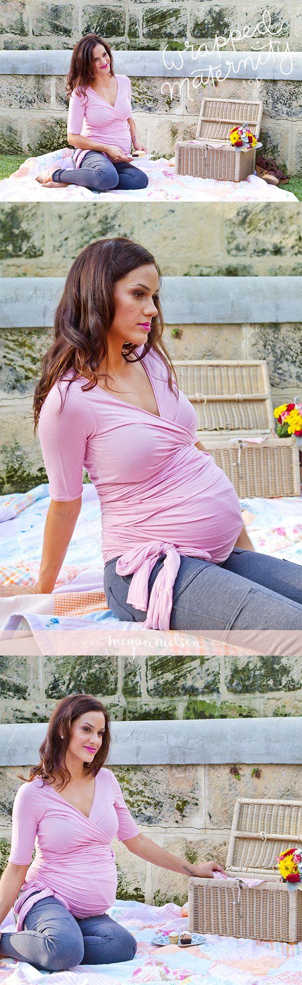Megan Nielsen wrapped maternity top sewing pattern MN1003 // @Megan Nielsen