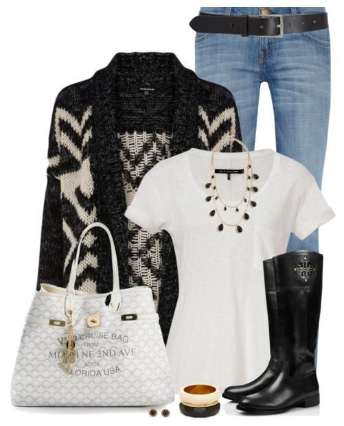 Cute Fall Outfits With Jeans And Boots Polyvore #BeModish #fashion #outfits #polvore