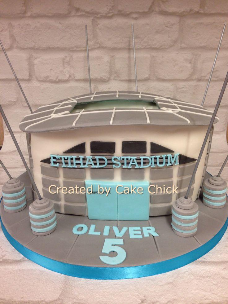 Manchester City Cake Etihad Stadium Cake Soccer Party