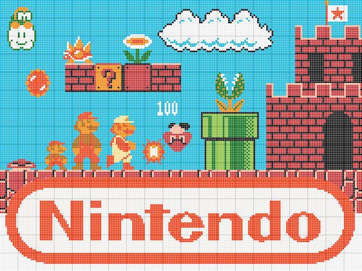 Super Mario Bros pattern — A video game inspired craft weblog