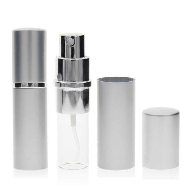 5ml 10ml Portable Mini Refillable Perfume Atomizer Empty Spray Bottle For Travel Empty Aluminum Cosmet Refillable Perfume Fragrance Sachets Cosmetic Containers