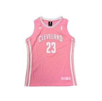 Cavs Girls 7-16 LeBron James Pink Replica Jersey in pink at the Cleveland Cavaliers Team Shop
