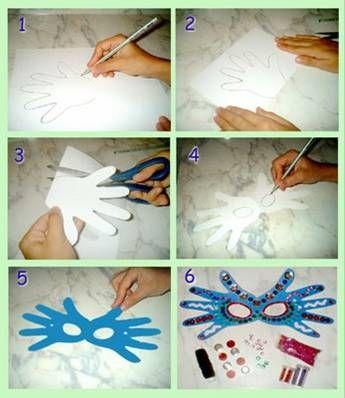 Antifaces en pocos pasos: aquí pueden verlos en detalle. #Carnaval #bebé www.mimitoshop.com.ar
