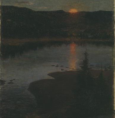 Prins Eugen - Månuppgång i Valdres 1890