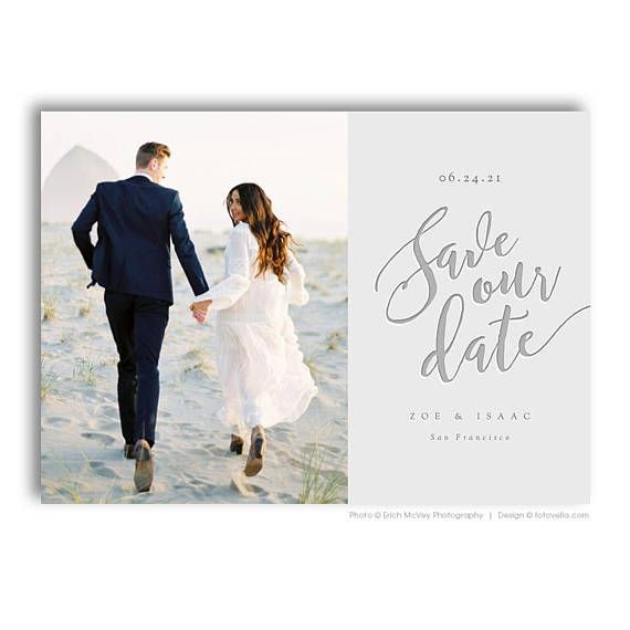 Save The Date Card Photoshop Template Engagement Announcement Template For Photographers P Save The Date Cards Save The Date Templates Photoshop Template
