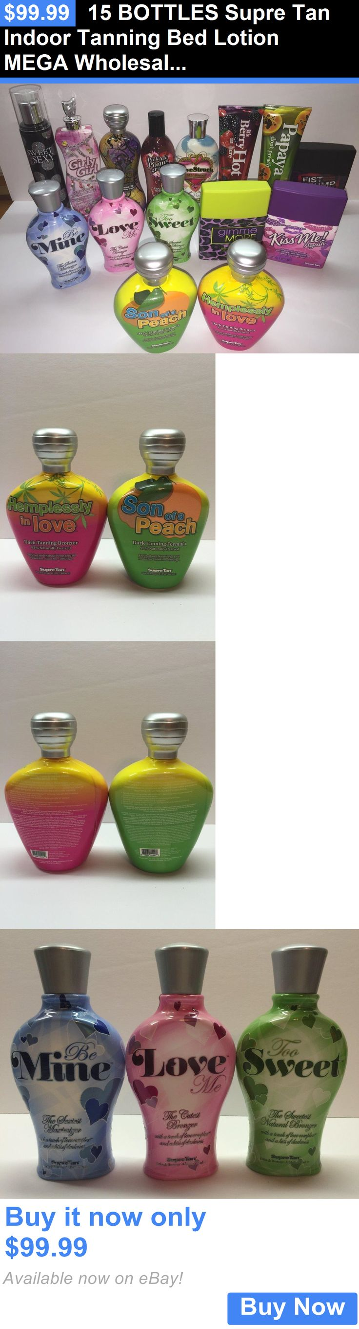 Tanning Lotion: 15 Bottles Supre Tan Indoor Tanning Bed Lotion Mega Wholesale Lot $657 Retail BUY IT NOW ONLY: $99.99